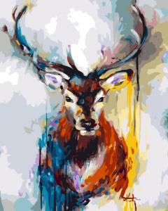 Картина по номерам GX3303 Красочный олень