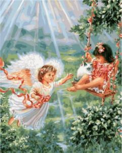 Картина по номерам GX8488 Ангел-хранитель