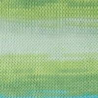 Пряжа Ализе Белла Батик 100 (7649 молочный/зеленый/голубой)