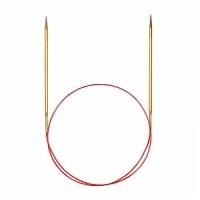 Спицы Addi 120 см 3 мм круговые позолоченные с удлиненным кончиком 755-7/3-120 (755-7/3-120)