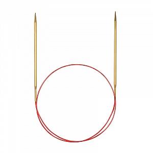Спицы Addi 120 см 3 мм круговые позолоченные с удлиненным кончиком 755-7/3-120