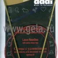 Спицы Addi 80 см 2,5 мм круговые позолоченные с удлиненным кончиком 755-7/2,5-80 (755-7/80-2,5)