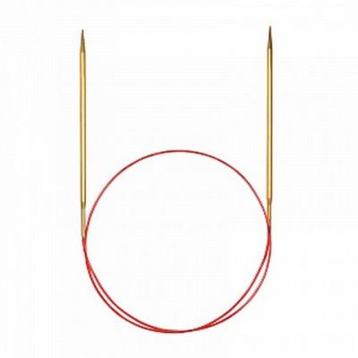 Спицы Addi 80 см 3,5 мм круговые позолоченные с удлиненным кончиком 755-7/3,5-80
