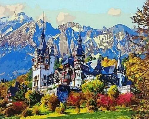 Картина по номерам GX 27996 Замок в горах 40х50 см