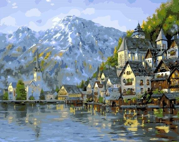 Картина по номерам GX 7047 Город в горах 40х50 см