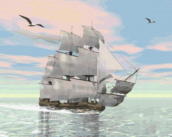 Картина по номерам GX 29368 Корабль 40х50 см