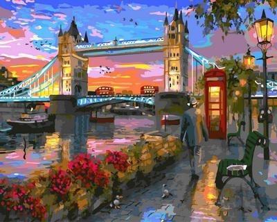 Картина по номерам GX 33314 Лондонский мост 40х50 см