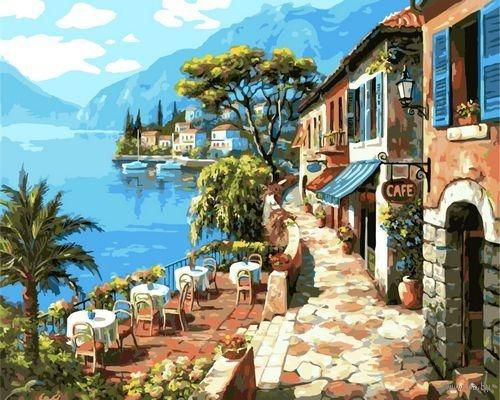 Картина по номерам GX 6935 Морской городок 40х50 см