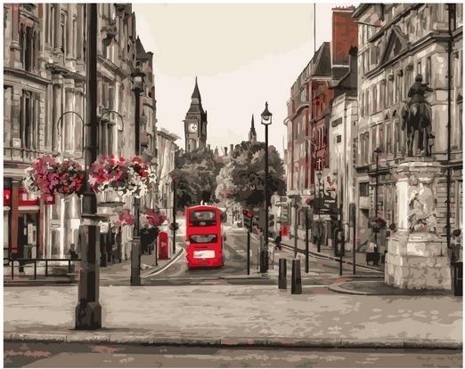Картина по номерам GX 37691 Лондон 40х50 см