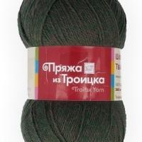 Пряжа Троицкая Шотландский твид (Пряжа Троицкая Шотландский твид, цвет 1981 меланж (т.зеленый))