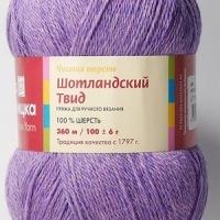 Пряжа Троицкая Шотландский твид (Пряжа Троицкая Шотландский твид, цвет 8002 меланж (фиолетовый))