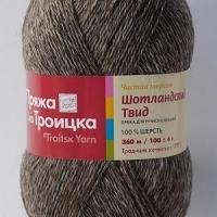 Пряжа Троицкая Шотландский твид (Пряжа Троицкая Шотландский твид, цвет 8008 меланж (коричневый))