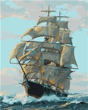 Картина по номерам VA-0038 Корабль 40х50 см