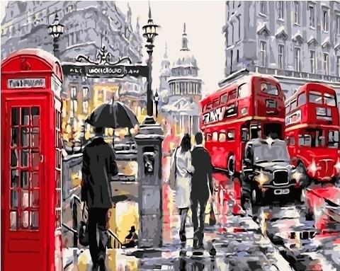 Картина по номерам GX 3518 Лондон 40х50 см