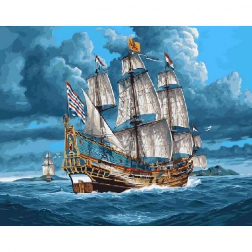 Картина по номерам VA-1693 Корабль 40х50 см