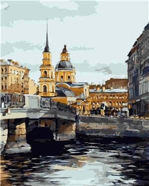 Картина по номерам VA-0358 Петербург 40х50 см