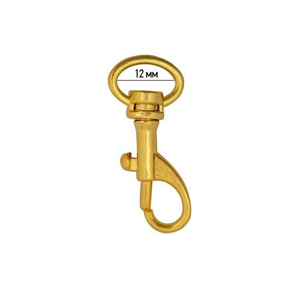 Карабин металлический TBY-AX09.1-12 39х17мм золото