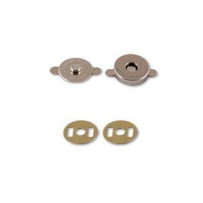 Кнопки магнитные металл 18мм МКМ-02 гладкий никель