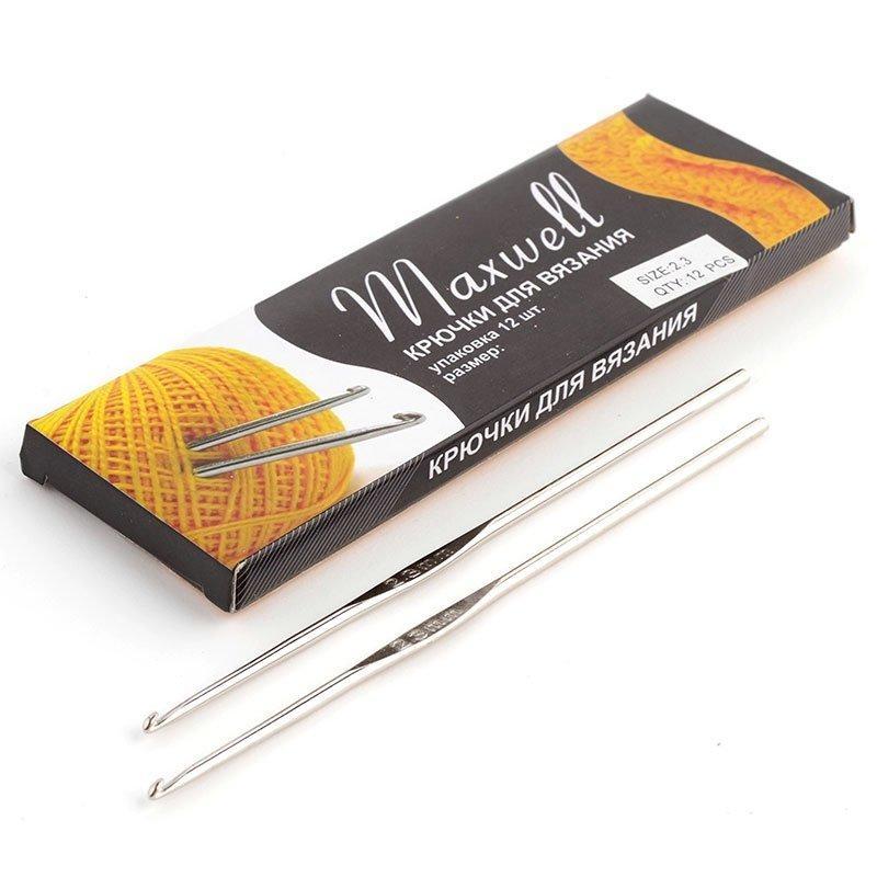Крючок для вязания ТВ-СН03 2.3мм никель MAXWELL