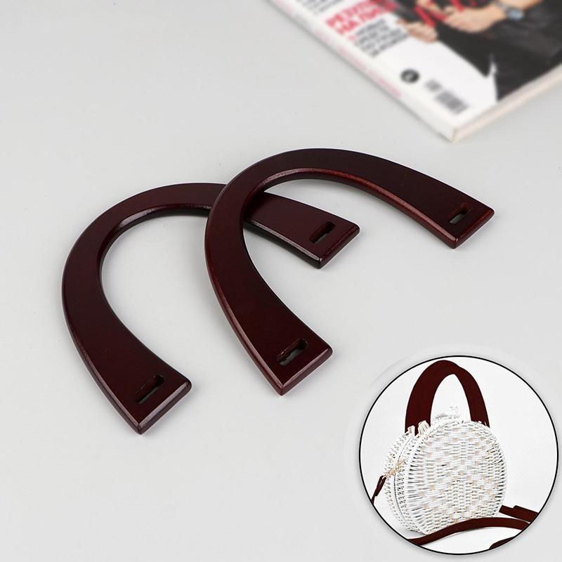 Ручка для сумки дерево 11х16.5см 2шт коричневый 4583474