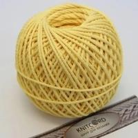 Шнур полиэфирный с сердечником 5 мм для рукоделия Книткорд (2049 лимонный)