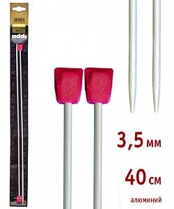 200-7/3.5-40 Спицы Addi  прямые, алюминий, с пластиковым наконечником, 3,5 мм, 40 см, 2 шт