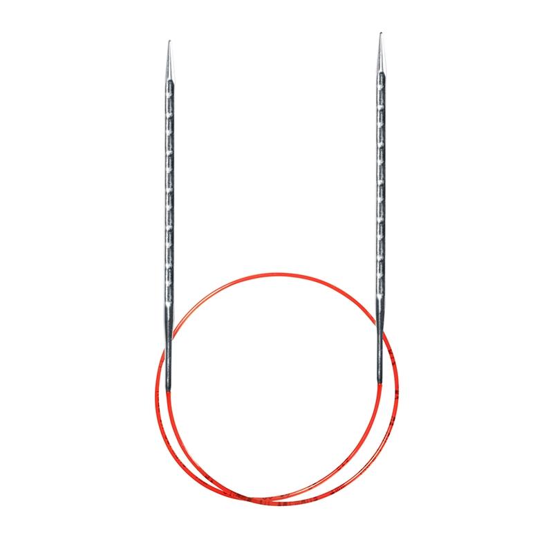 717-7/2.5-80 Спицы Addi 2,5 мм 80 см метал.круговые супергладкие с квадратным кончиком ADDINOVEL