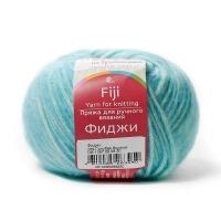 Пряжа Троицкая Фиджи (222 голубая бирюза)