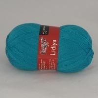 Пряжа Семеновская Лидия (Пряжа Лидия Семеновская, цвет 0290 бирюзово-голубой)
