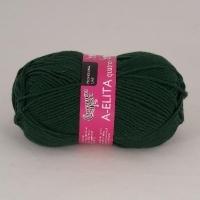 Пряжа Семеновская Аэлита кватро (62 тёмно-зелёный)