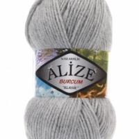 Пряжа Ализе Буркум (21 серый меланж)
