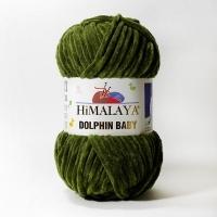 Пряжа Himalaya Dolphin Baby (80361 оливковый)