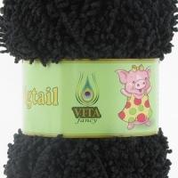 Пряжа Vita fancy Pigtail (5402 черный)