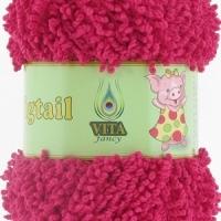 Пряжа Vita fancy Pigtail (5410 малиновый)