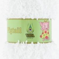 Пряжа Vita fancy Pigtail (5401 белый)