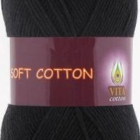 Пряжа Vita cotton Soft cotton (1802 черный)