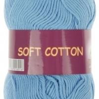 Пряжа Vita cotton Soft cotton (1820 голубой)
