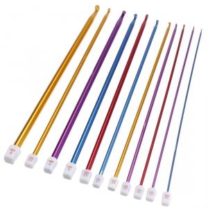Крючок для тунисского вязания 2,0-5,0 мм цветной