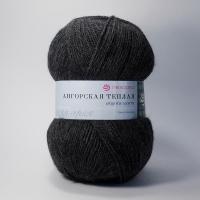 Пряжа Пехорка Ангорская теплая (435 антрацит)