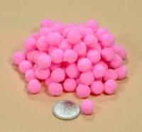 Помпоны для рукоделия розовые 1 см