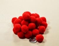 Помпоны для рукоделия красные 2 см