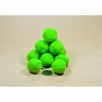 Помпоны для рукоделия зеленые 2 см