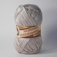 Пряжа Носочная добавка Хозяюшка-рукодельница  50г (жемчужный)