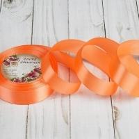 Лента атласная, 25 мм, 1 м в ассортименте (22 оранжевый)