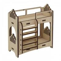 Деревянная заготовка Двухярусная кровать 10х5х11,5см Астра