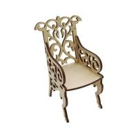 Деревянная заготовка Кресло резное 7х6,5 см Астра 582381 L-487