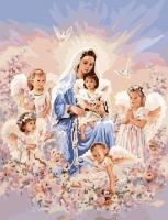 Картина по номерам GX 7401 Мамины ангелочки 40*50