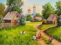 Картина по номерам GX 3898 Деревенский двор 40*50