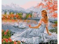 Картина по номерам GX 25061 Девушка у пруда 40*50