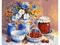 Картина по номерам GX 21297 Вишневое варенье Триши Хардвик 40*50